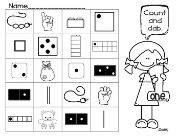 Count and Cover/Dab - Number Sense 1-10