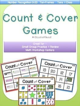 Count and Cover: Numeral, Tens and Ones, and Ten-Frames Games