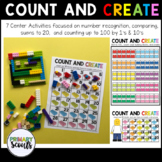 Counting to 100 and Create - Kindergarten Math Center (7 A
