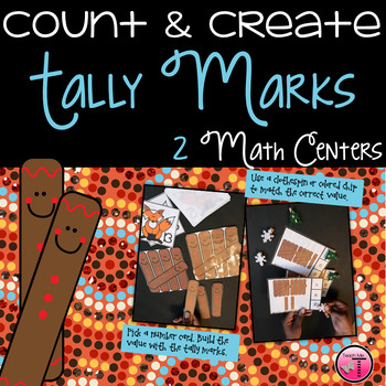 Tally Marks Math Centers Numbers to 30 Gingerbread