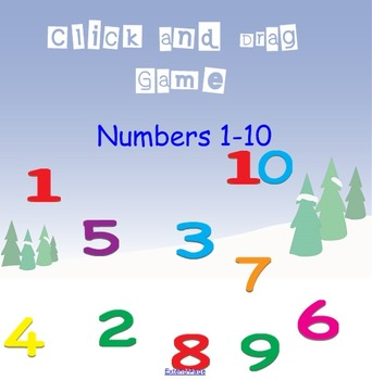 Count and Drag Numbers 1-10 SMART board activity