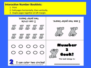 Count and Draw Numbers!  Interactive booklets and worksheets! WINTER THEME
