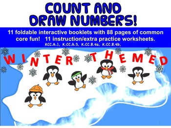 Count and Draw Numbers!  Interactive booklets and workshee