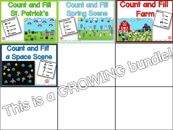 Count and Fill Scenes Bundle! Recognize, Count & Build!