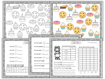Find, Count and Graph - 10 sets with recording sheets (Math Centers)