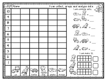 Count and Graph & Analyze Data (pack2)-Count, Graph, Compare, Combine, Make 10