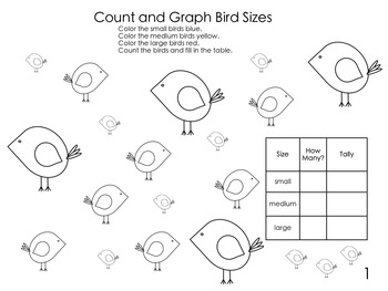 Count and Graph Bird Sizes