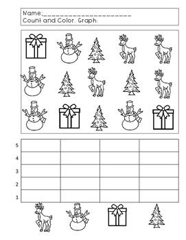 Count and Graph--Christmas Theme