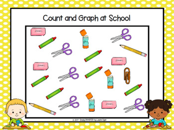 NO PREP Back To School Themed Data Collection and Graphing Activities