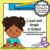 NO PREP Back To School Themed Data Collection and Graphing