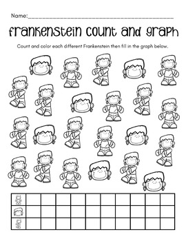 Count and Graph with Questions - Halloween Themes
