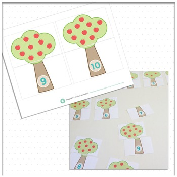Number Recognition Count and Match Puzzle