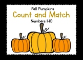Count and Match Fall Pumpkins