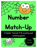 Number Recognition, Count and Match {Kindergarten Spider Theme}