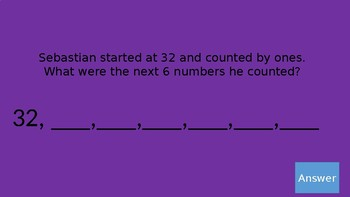 Count and Model Numbers Jeopardy (Chapter 6 GoMath)