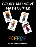 Count and Move Math Center FREEBIE