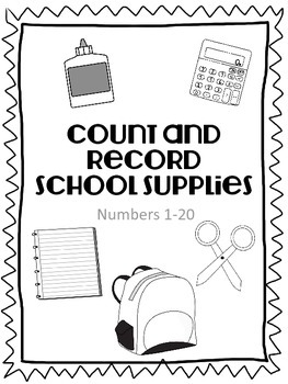 Count and Record School Supplies