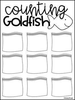 Counting and Representing Numbers - Goldfish Cracker