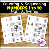 Count and Sequence Numbers 1-10 Distance Learning Worksheets
