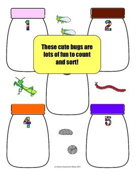 Count and Sort Bug Jars File Folder Game