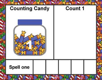 Count and Spell Candy Sorting Mats