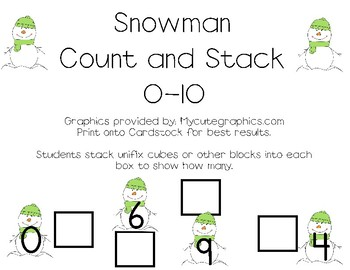 Count and Stack Snowmen (Numbers to Sets)