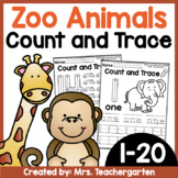 Count and Trace (Zoo Animals)