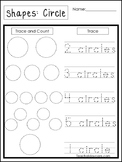 Count and Trace the Shapes Worksheets. 12 Shapes Worksheets. Preschool-KDG.