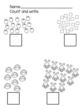 Count and Write 1-20 Scattered