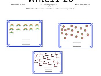 Count and Write 11-20