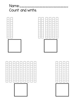 Count and Write Base Ten to 100 (10s Only)