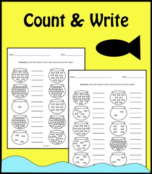 Count and Write - Fish
