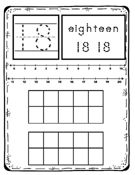 Count and Write Math Mats 1-20