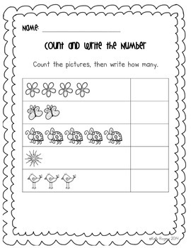 Count and Write Numbers 1-5