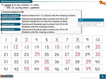 Count and Write Numbers to 50