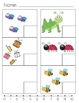 Count and Write (Numbers to Sets) 0-5