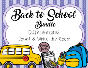 Count and Write the Room - Back to School Bundle