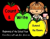 Count and Write the Room *Back to School* version