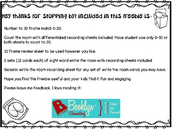 Count and Write the Room Freebie!