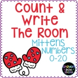 Count and Write the Room Mittens 0-20