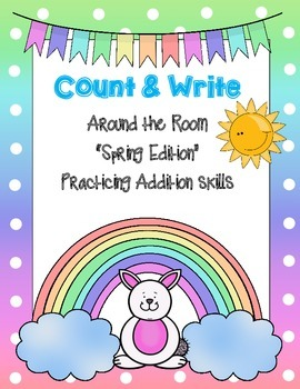 Count and Write the Room *SPRING / ADDITION VERSION*