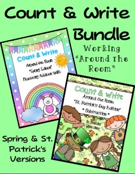 Count and Write the Room--Spring & St. Patrick's Day BUNDLE