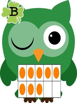 Count and Write the Room with St. Patrick's Day Owls