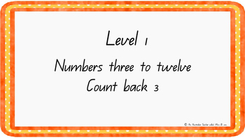 Count back three Levelled warm-up PowerPoint ACARA C2C CCS
