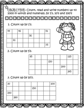Count by 1's, 5's, and 10's, 2nd grade math