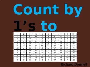 Count by 1's to 120