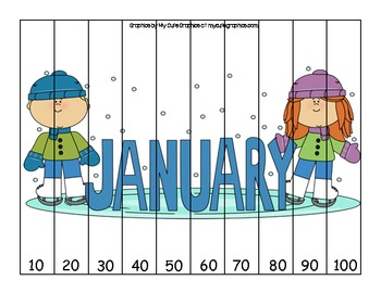 Count by 10 Puzzles - Months
