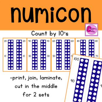 Count by 10's Number Line