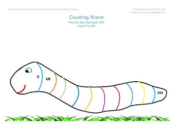 Count by 10's Worm