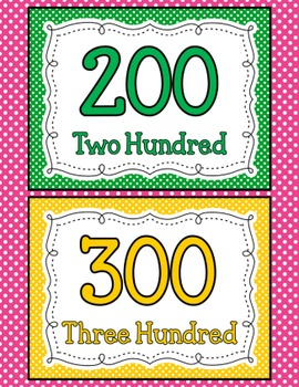 Count by 100's - Number Posters 100 - 1,000 Polka Dots!